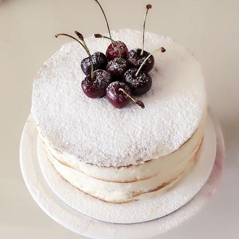 White Chocolate Naked Cake