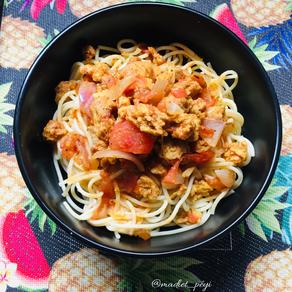 Spaghettis aux protéines de soja