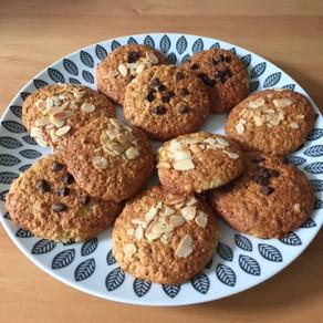 Cookies banane et flocons d'avoine