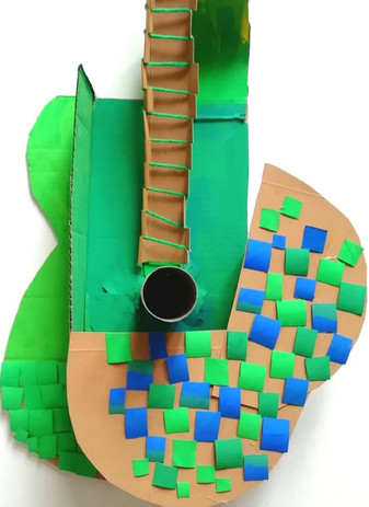 Picasso's Mosaic Acoustic Guitar (detail)