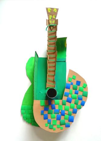 Picasso's Mosaic Acoustic Guitar