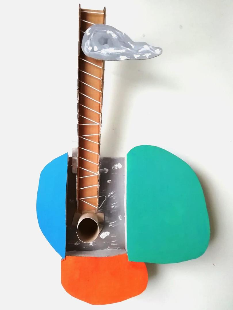 Picasso's Ninja Clouds Guitar