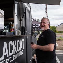 Matt Allard asking for it. Blackcat Moto Coffee.