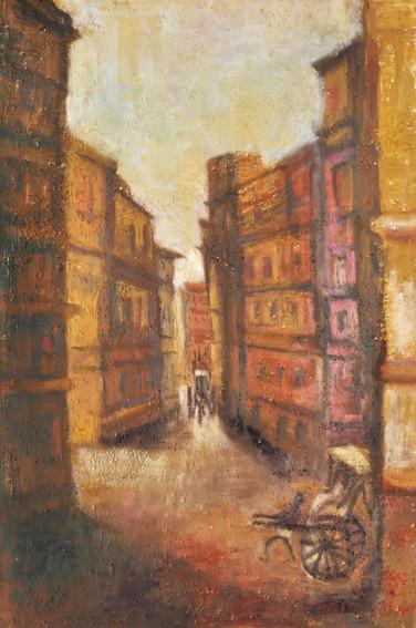 "Urban-1   Oil on canvas 24"" x 36"""