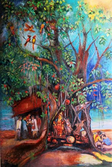 Ganga | Oil on canvas