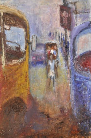 "Urban-2   Oil on canvas 24"" x 36"""