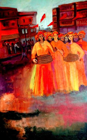 Sanyasi | Acrylic on canvas