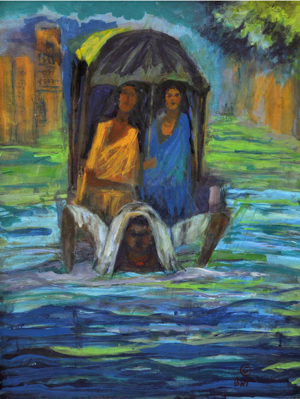 """Monsoon-2   Oil on canvas 24"""" x 16"""""""