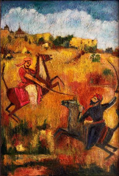 Battle   Oil on canvas