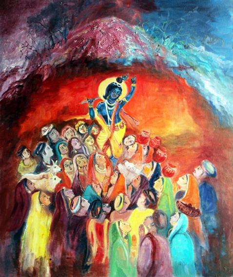 Govardhan | Oil on canvas