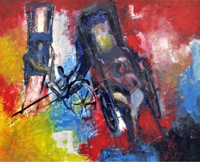 "Wait   Oil on canvas 22"" x 19"""