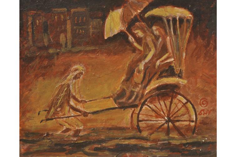 """Monsoon-3   Oil on canvas 24"""" x 36"""""""