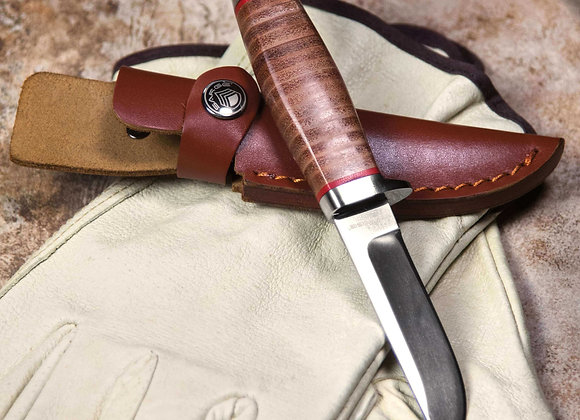 Stacked Leather Fixed Blade