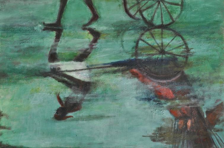 """Monsoon-1   Oil on canvas 12"""" x 12"""""""