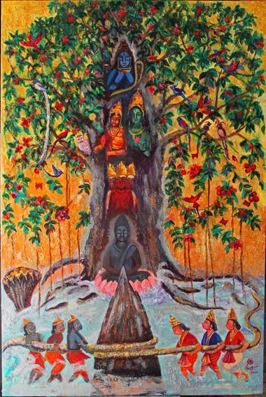 Kalpavriksha | Oil on canvas