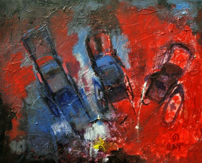 """Night   Oil on canvas 22"""" x 19"""""""