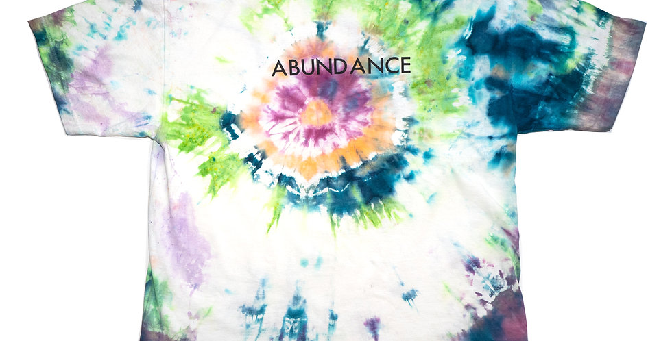 'ABUNDANCE' TIE-DYE T-SHIRT
