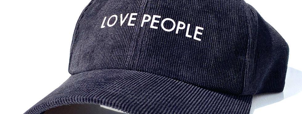 'LOVE PEOPLE' CORDUROY HAT