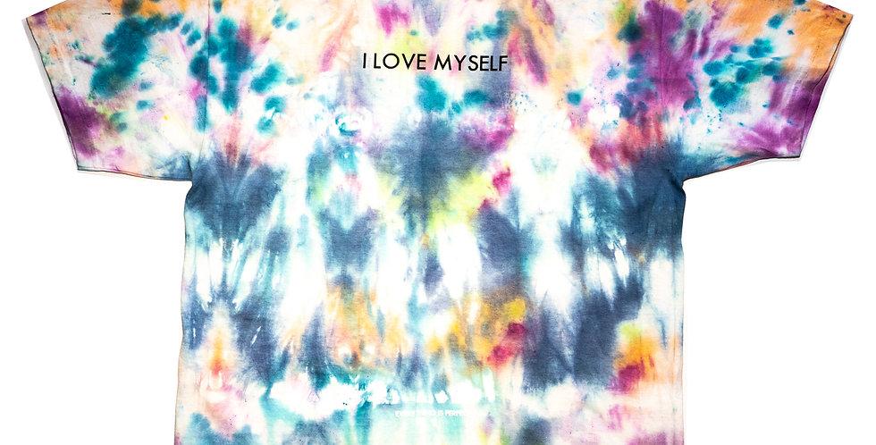 'I LOVE MYSELF' TIE-DYE T-SHIRT
