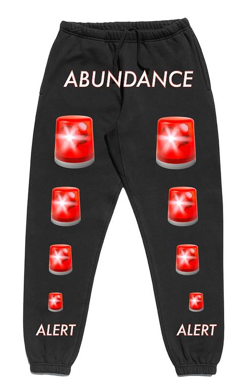 ABUNDANCE ALERT SWEATPANTS