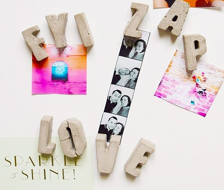 Concrete Letter Fridge Magnets