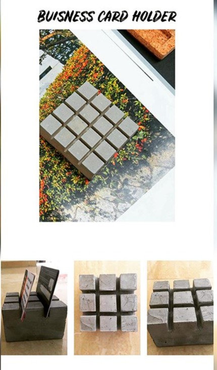 Concrete Card Holder