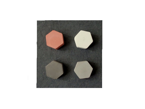 (set of 4)Concrete Hexagon Magnets