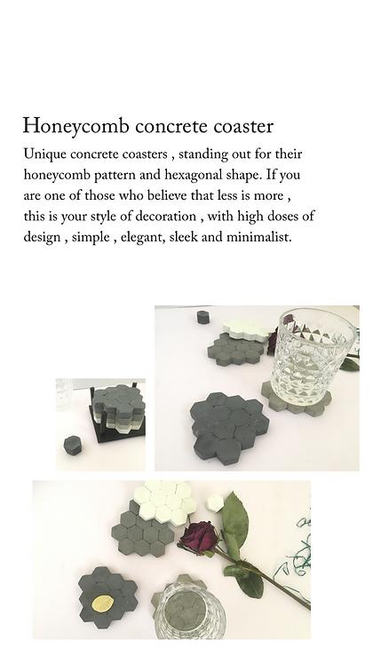Honeycomb concrete coasters