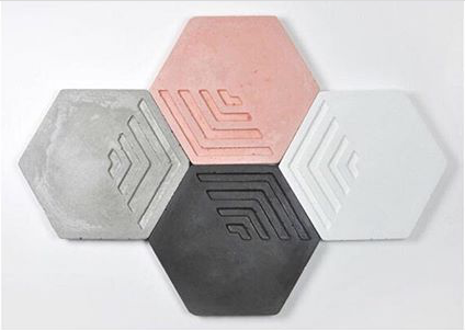 Hexagon Concrete Coaster
