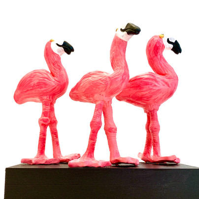 The Three Flamingos