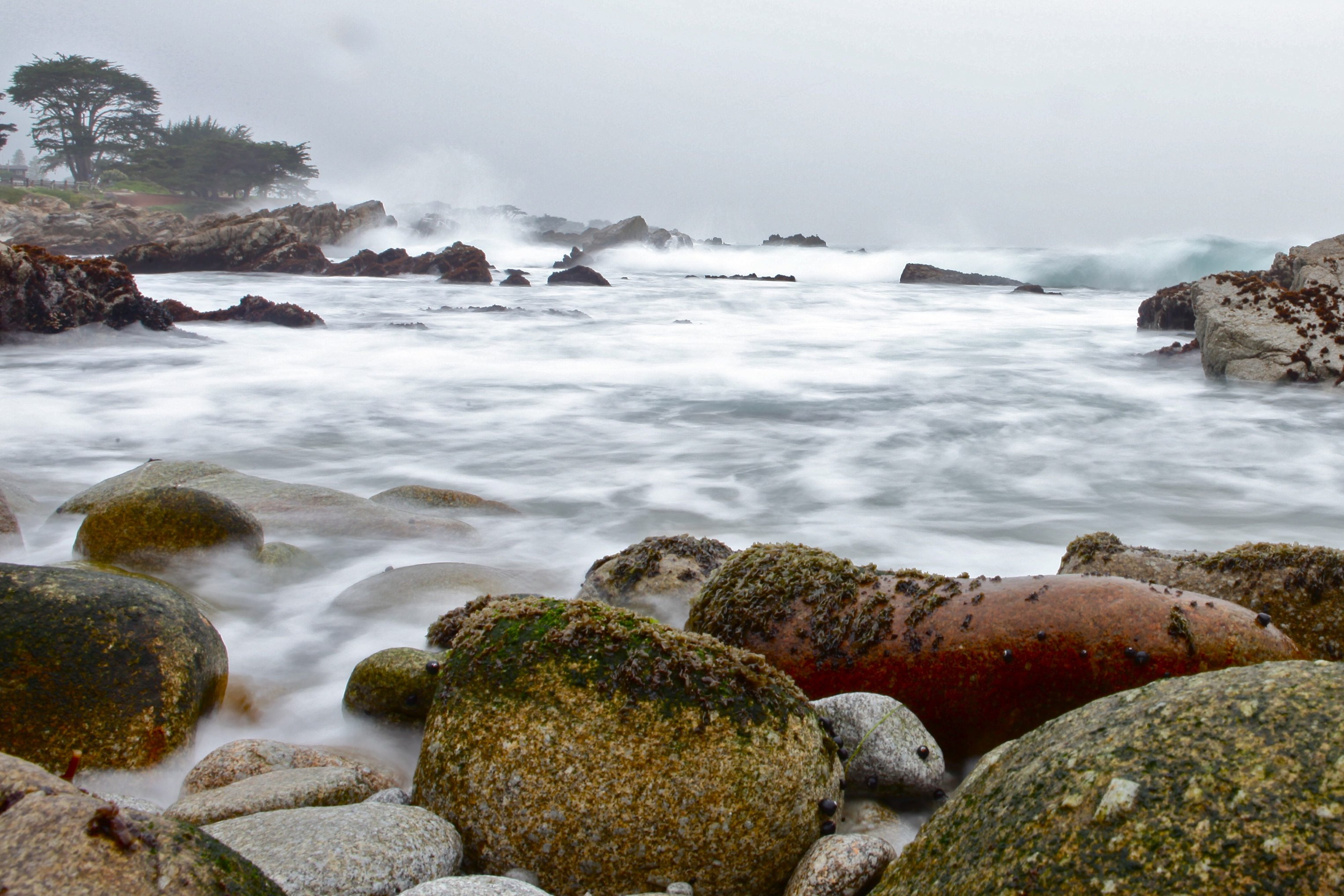 Pacific Grove during a rain storm