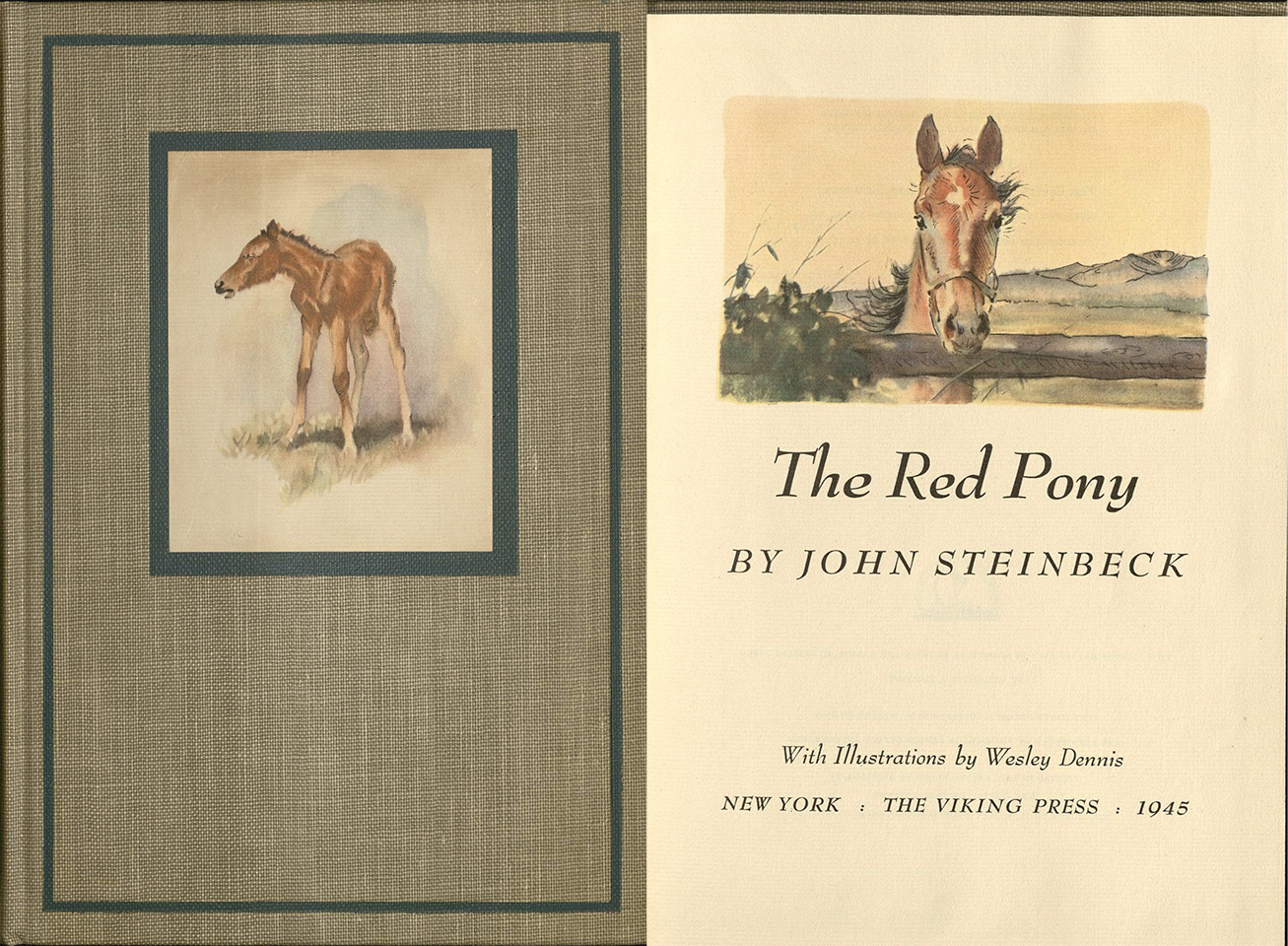 The Red Pony cover 1945