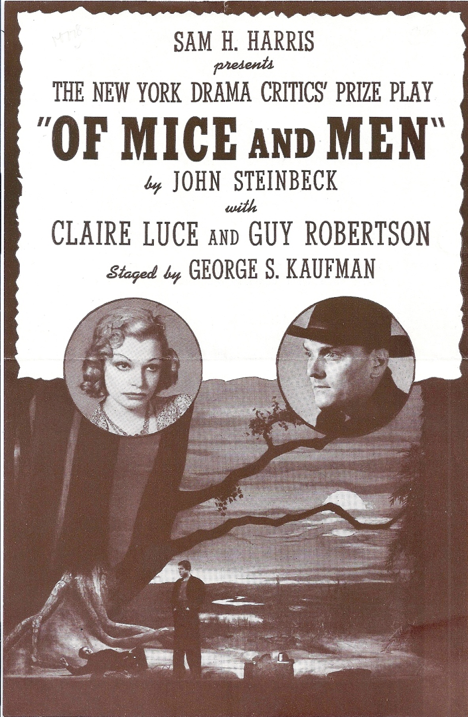 Of Mice and Men playbill 1940s
