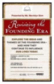 Revisiting the Founding Era program 2020