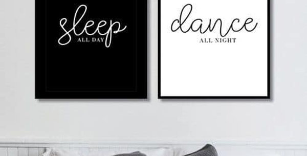 "Tranh canvas ""Sleep - Dance"""