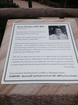 Commemorating past locals - Gwen Gordan