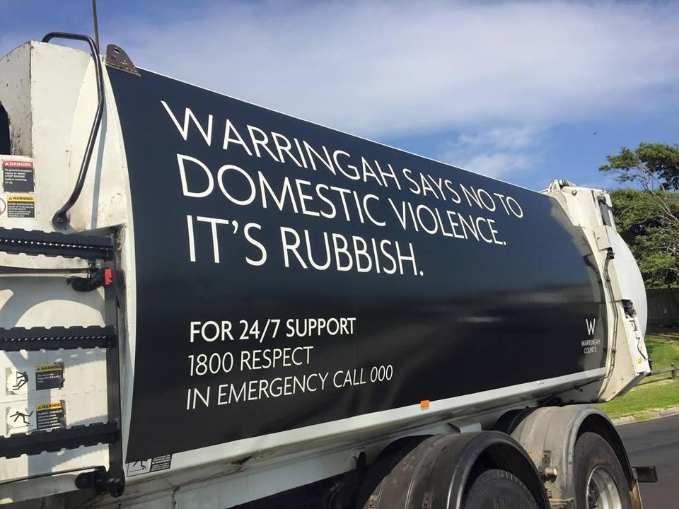 Social Messaging on local garbage trucks