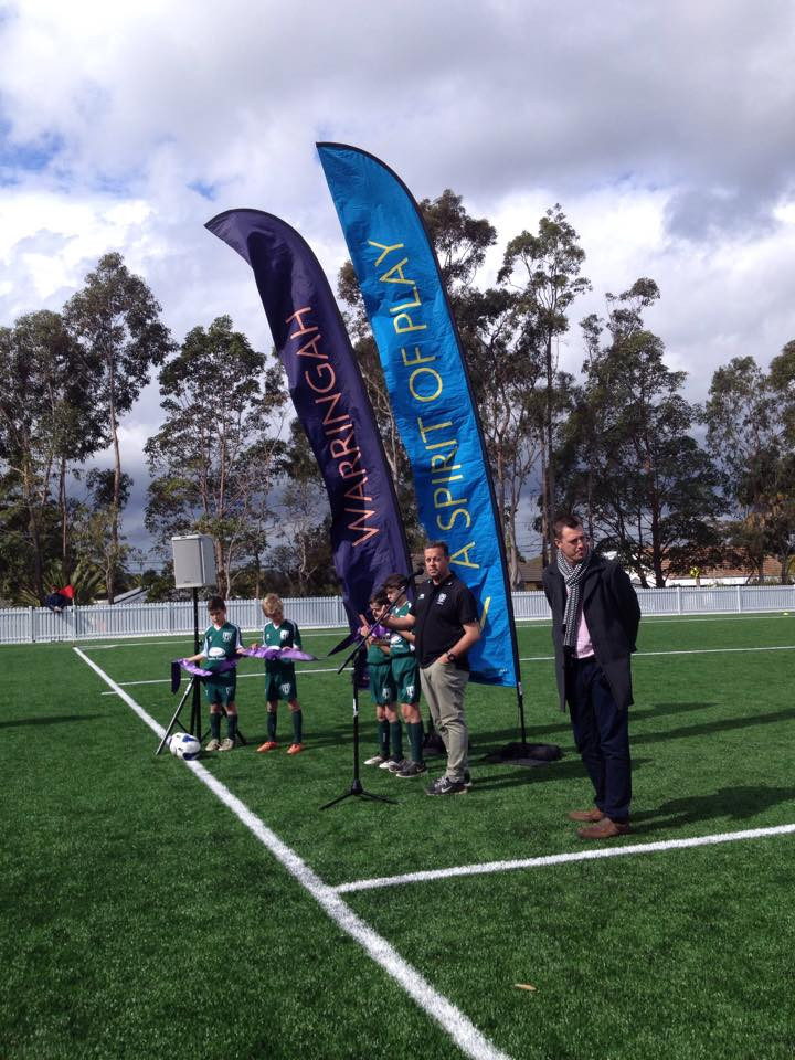 Opening the new synthetic field in Melwood Oval