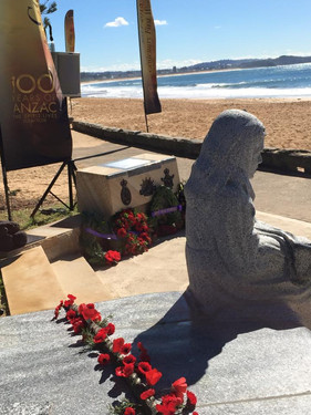 Recognising the past by erecting the statue The Knitting Girl in Collaroy