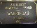 Bluett Award Winner