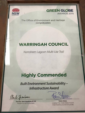 More awards for the Narrabeen Lagoon Trail