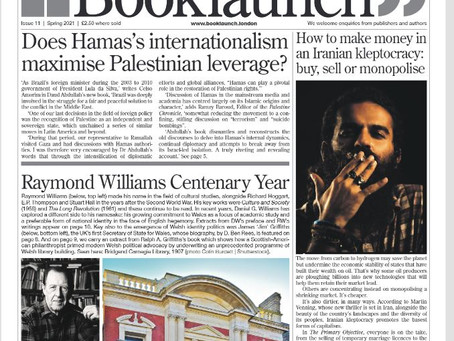 Raymond Williams Featured in 'Booklaunch Magazine' Issue 11 Page 10