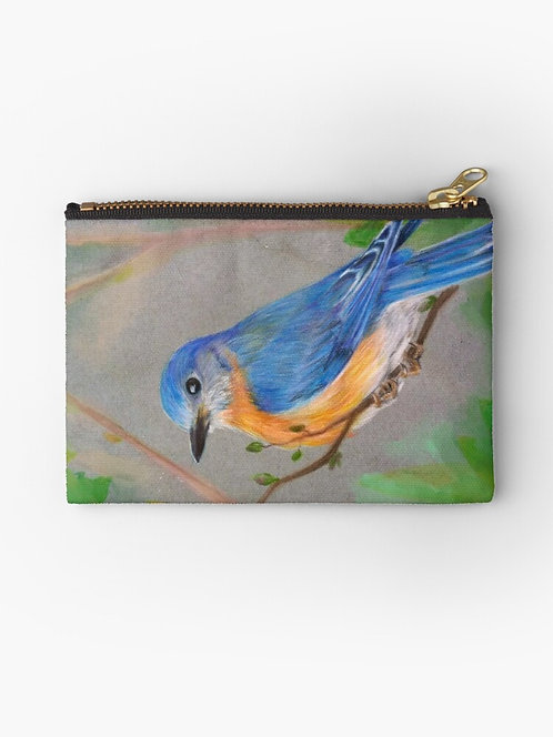 Bluebird Zipper Pouch