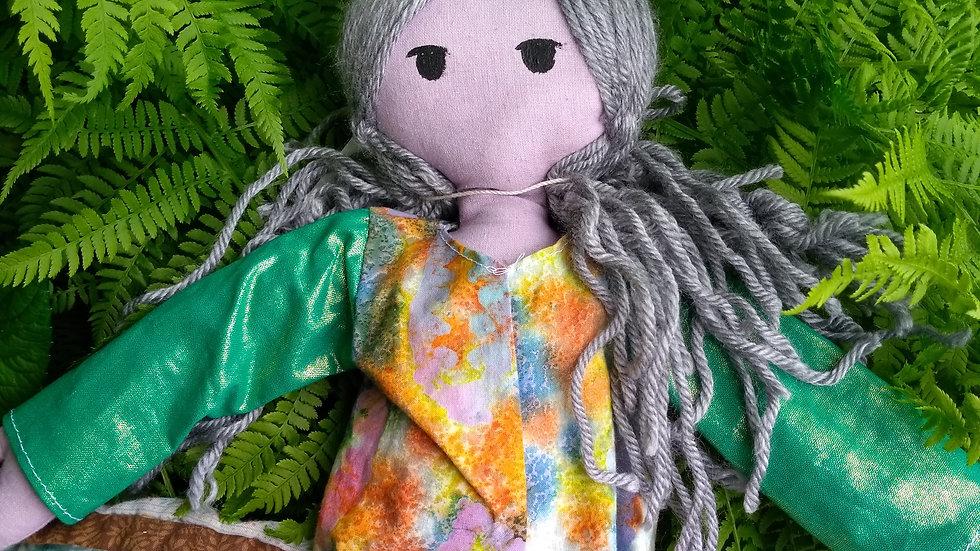 "12"" wise woman garden doll"