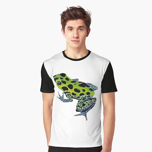 Green Poison Dart Frog Graphic T-Shirt