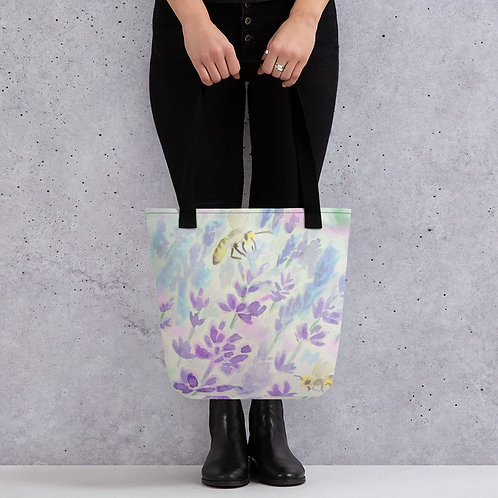 Bees and Lavender Tote