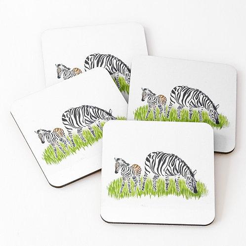 Set of 4 Zebra Coasters