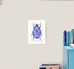 "12x16"" Premium Art Print Jewel Beetle"