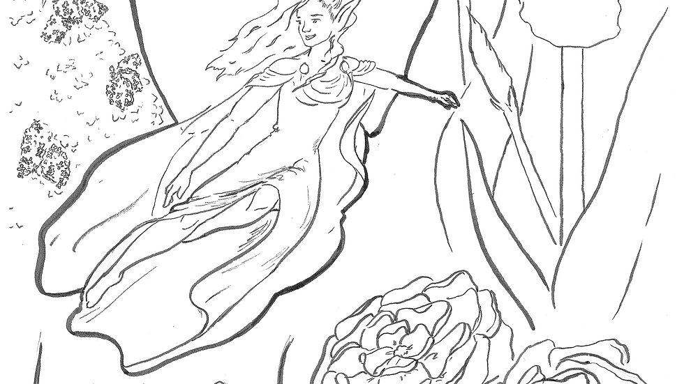 Coloring Page - The May Queen