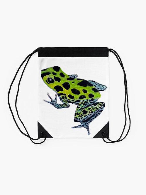 Green Poison Dart Frog Drawstring Bag